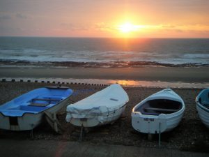 fishing boats New Beach Club Pett
